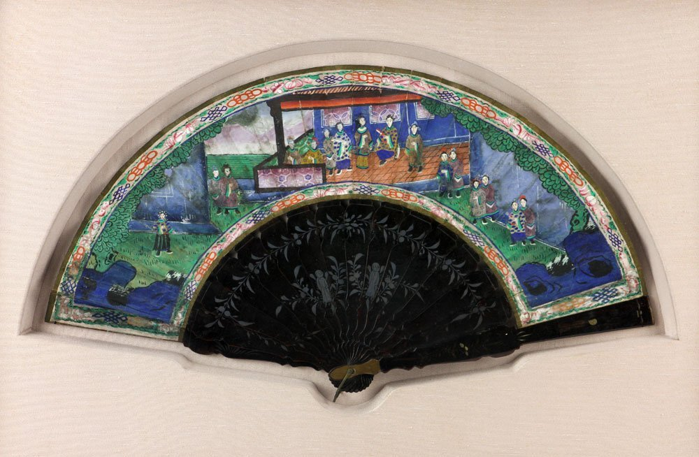 19th C. Chinese Hand Painted Fan - 3