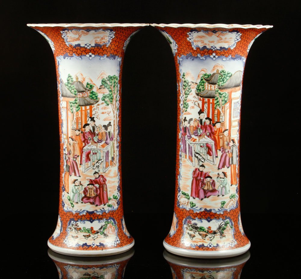 Pr. Chinese Export Vases