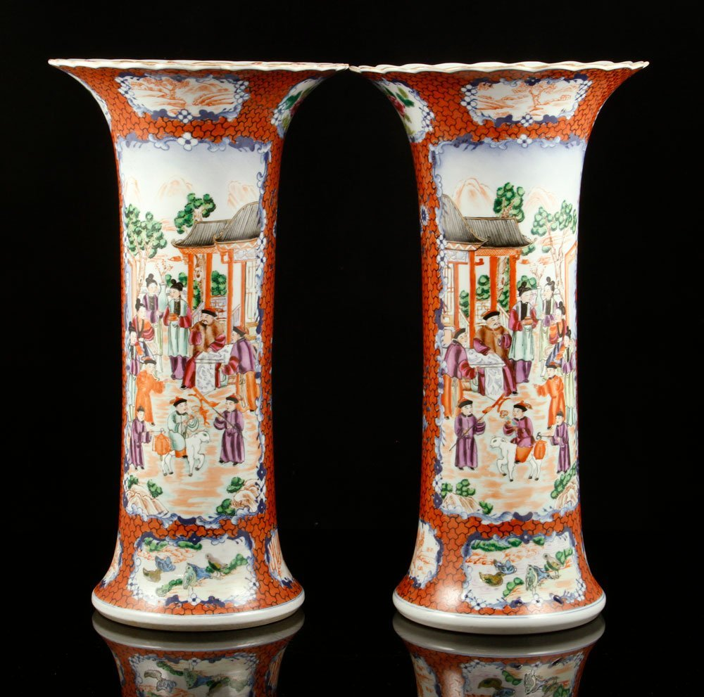 Pr. Chinese Export Vases - 3