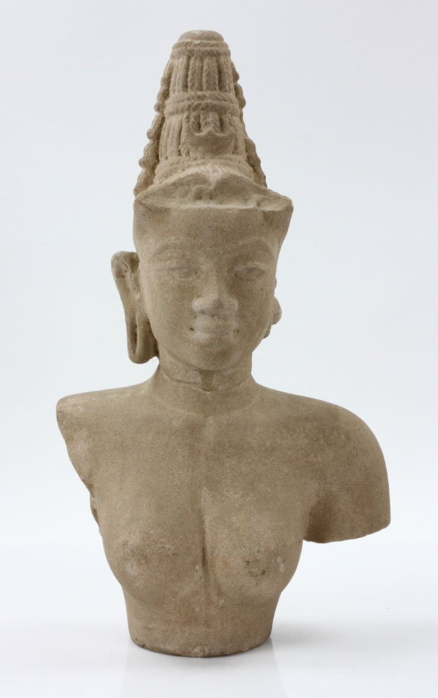Southeast Asian Stone Female Torso