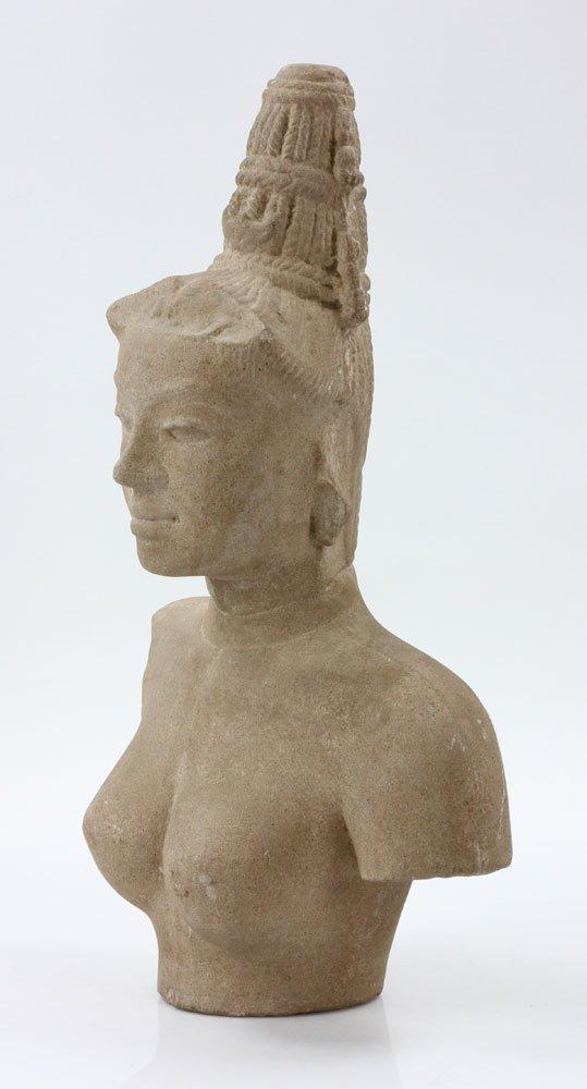 Southeast Asian Stone Female Torso - 3