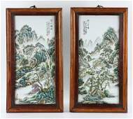 Pr. Chinese Famille Rose Porcelain Plaques