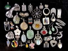 Collection of Sterling and Other Jewelry