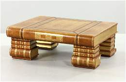 Maitland Smith Leatherbound Coffee Table