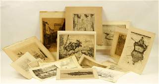 Lot of Prints and Etchings