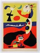"""Miro, """"L'Ete,"""" Color Pochoir Print"""