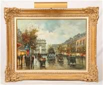 Gaston, Paris Street, Oil on Canvas