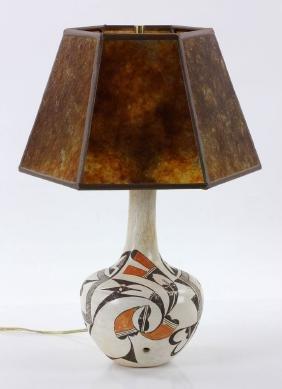 Acoma Pottery Vase/ Lamp