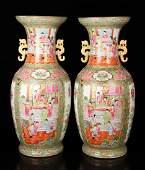 Pr. Chinese Rose Medallion Vases
