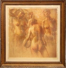 Brackman, Three Nudes, Print