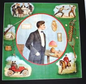 1900'S VICTORIAN  TOBACCO PREMIUM PILLOW COVER