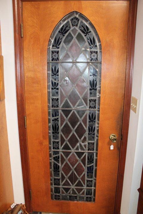 """Stained glass interior door, door is 34"""" x 80"""" the"""
