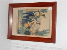 Four framed lithographs odd fellows by Kellogg