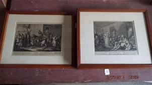 Four William Hogarth British 16971764 engravings