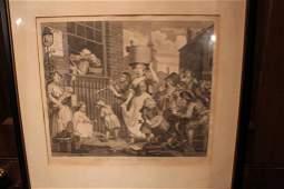 Two William Hogarth engravings British 16971764 the