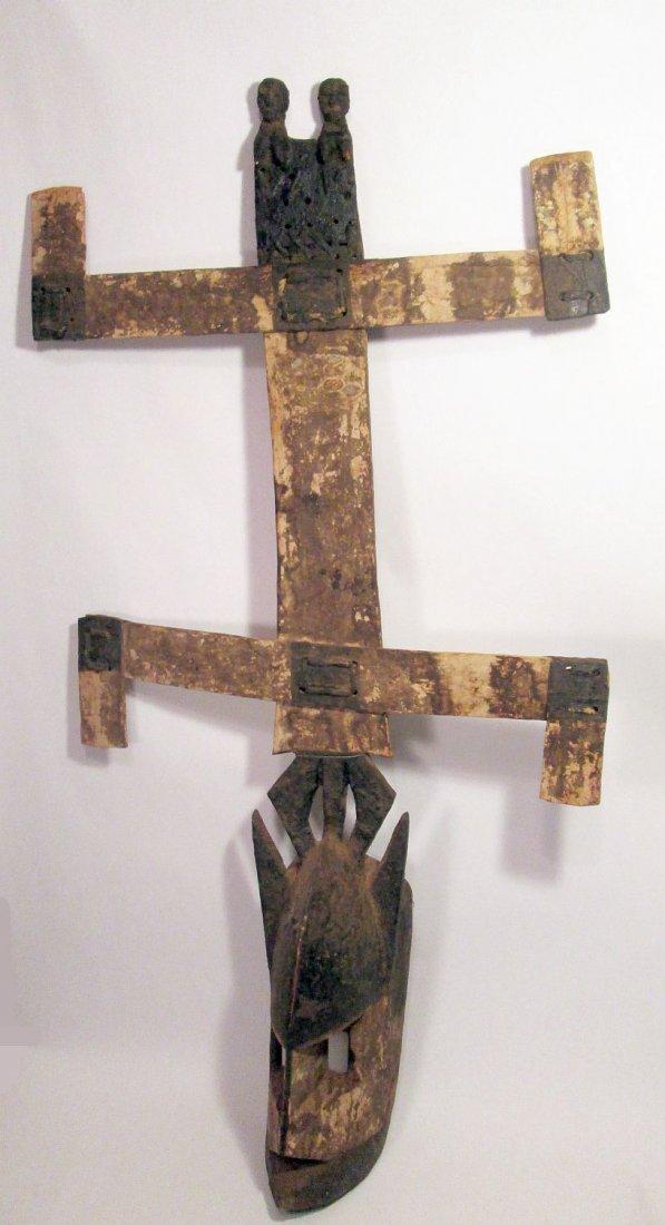 Old Field used Dogon kanaga Mask, African Tribal Art - 2