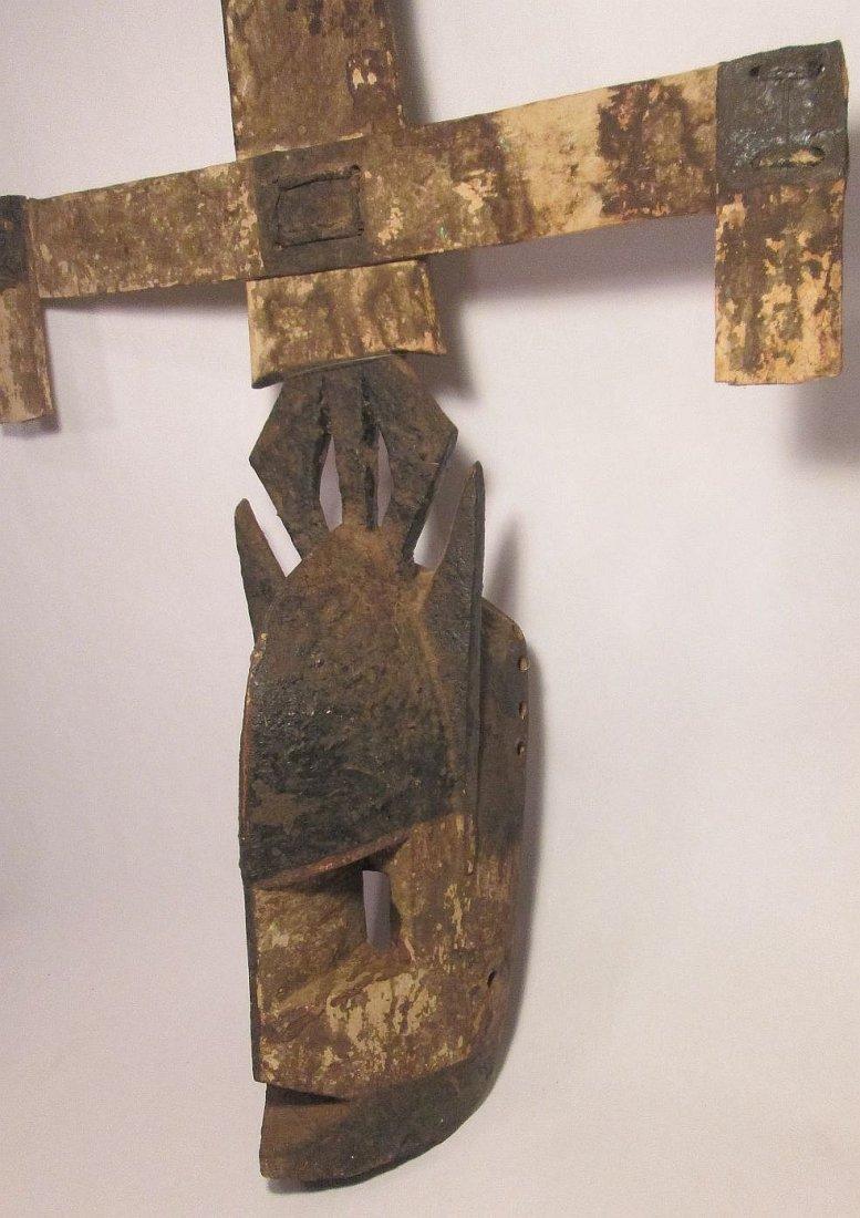 Old Field used Dogon kanaga Mask, African Tribal Art - 7