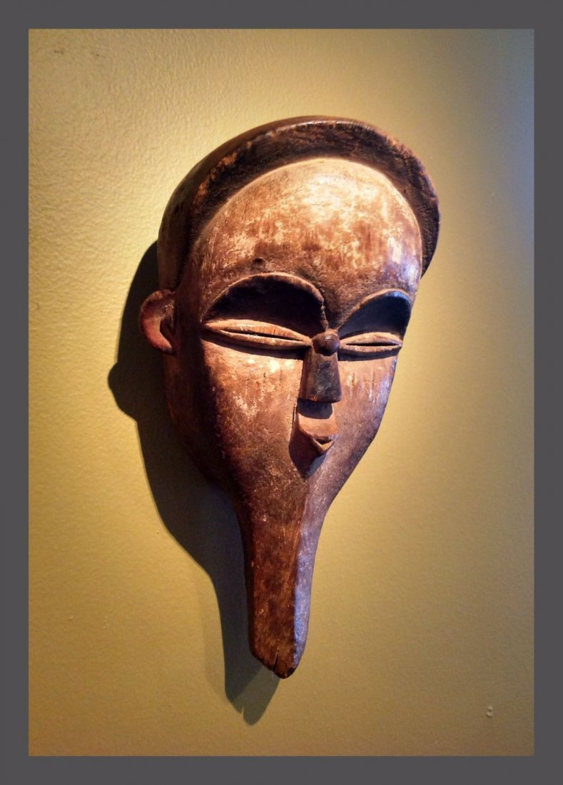 Vuvi hand held African Mask , African Tribal Art