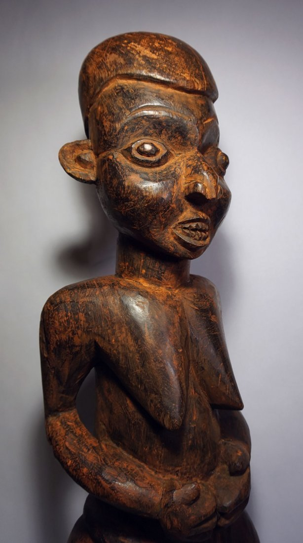 Ex Museum~ Old Bamileke Female Ancestor sculpture