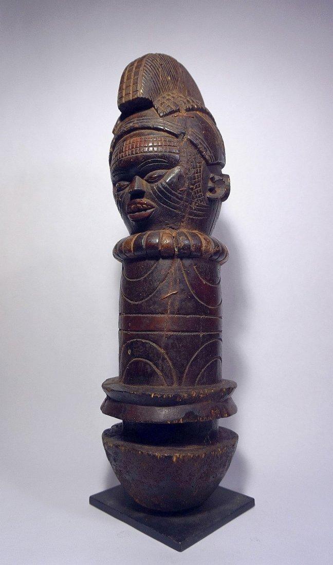 Rare KUYU Janus Marionette Sculpture , African Tribal
