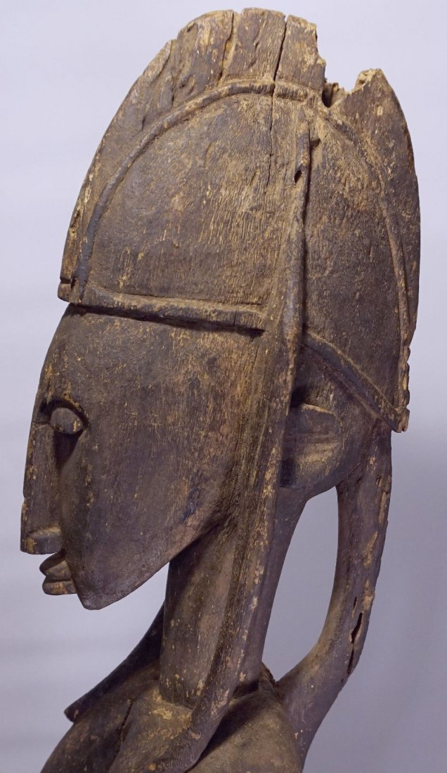 Huge Old Bamana Mother and Child sculpture, African Art