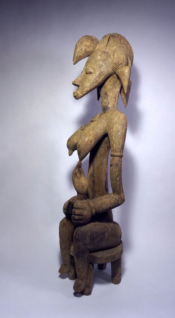 Old Senufo Mother and Child maternity sculpture African