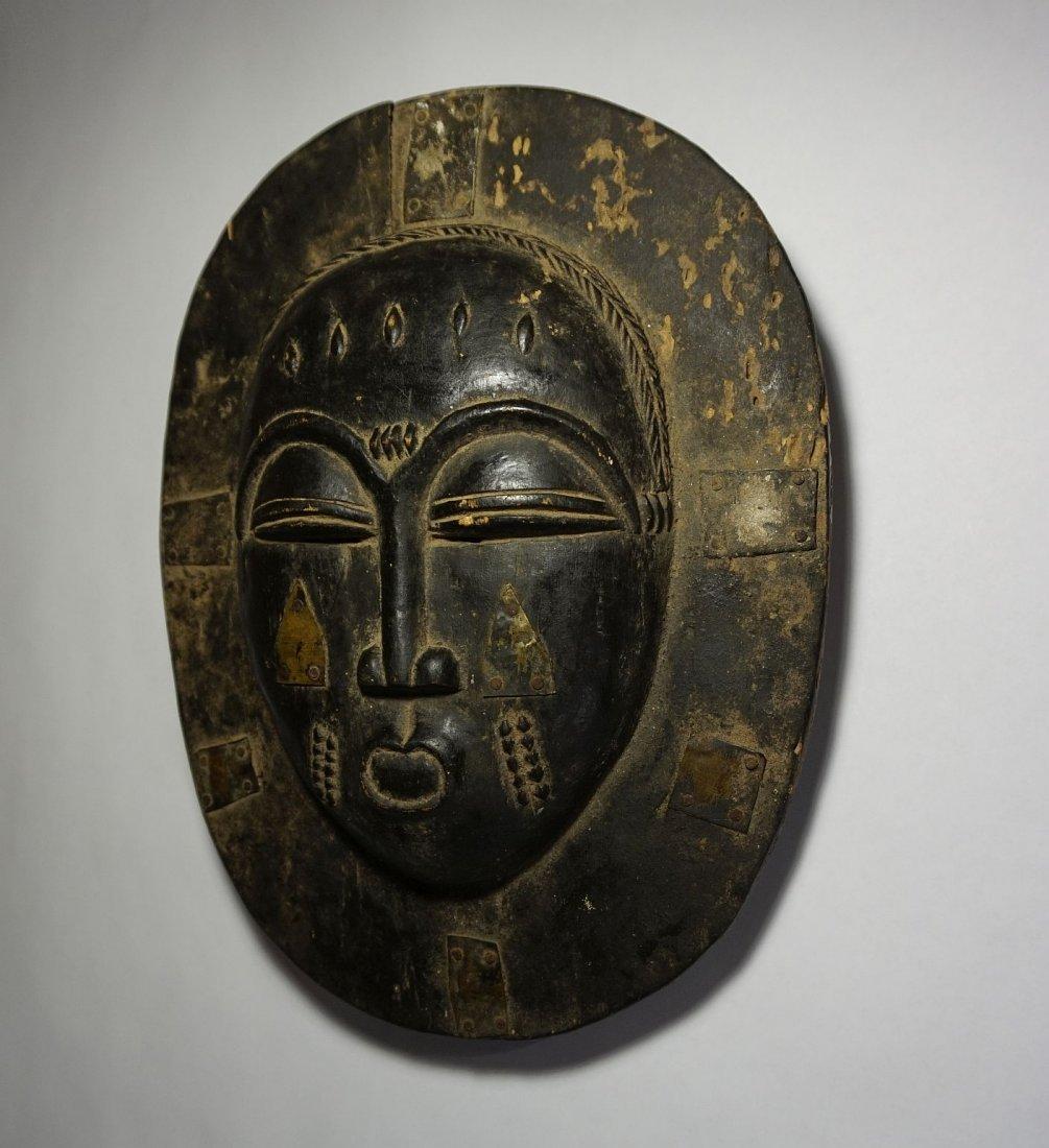 Lovely Old Baule Moon Mask, African Tribal Art