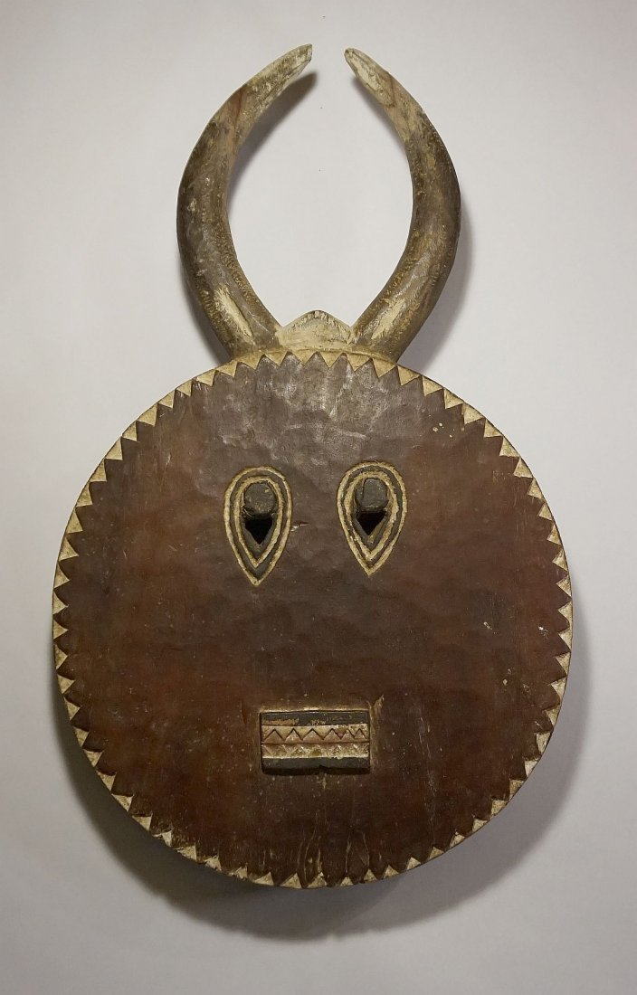 Large Old Baule Goli festival mask with Field use
