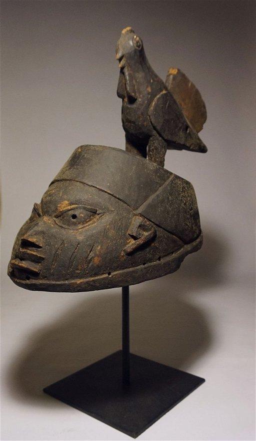 Old Yoruba Gelede African Helmet mask, Tribal Art - May 26, 2015