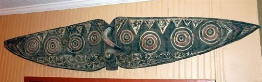 Huge Bobo Butterfly mask , African Tribal Art ~6.5 ft !
