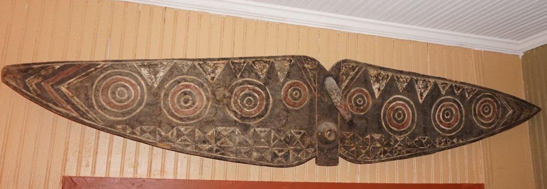 Huge Bobo Butterfly mask , African Tribal Art ~6.5 ft ! - 3