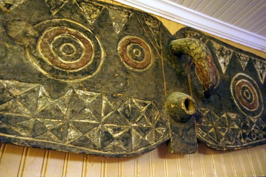 Huge Bobo Butterfly mask , African Tribal Art ~6.5 ft ! - 4