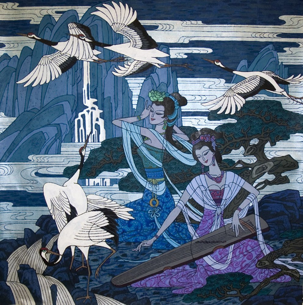 """""""Song of the Cranes""""  by Zu Ming Ho"""
