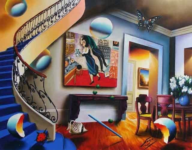 """""""Dining with Chagall"""" by Ferjo"""