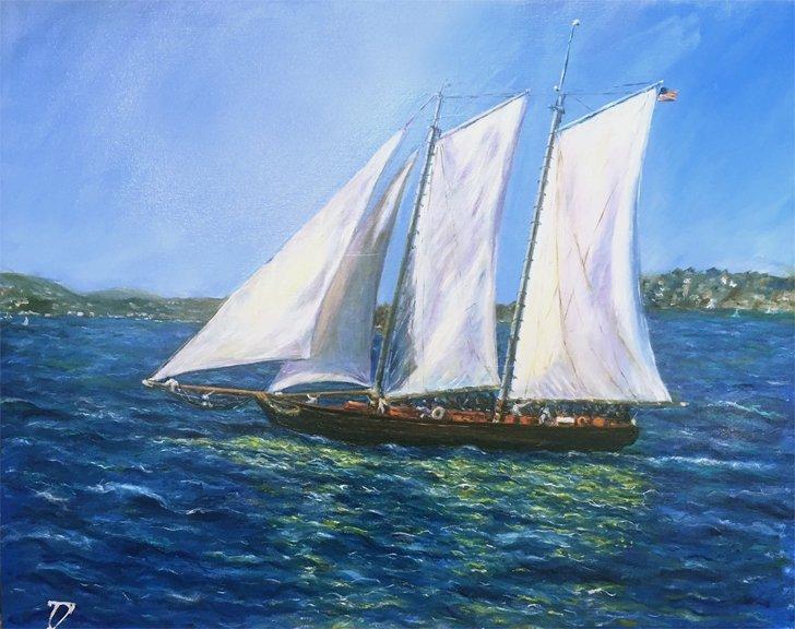 """Amercia in San Francisco Bay""  by Galina"