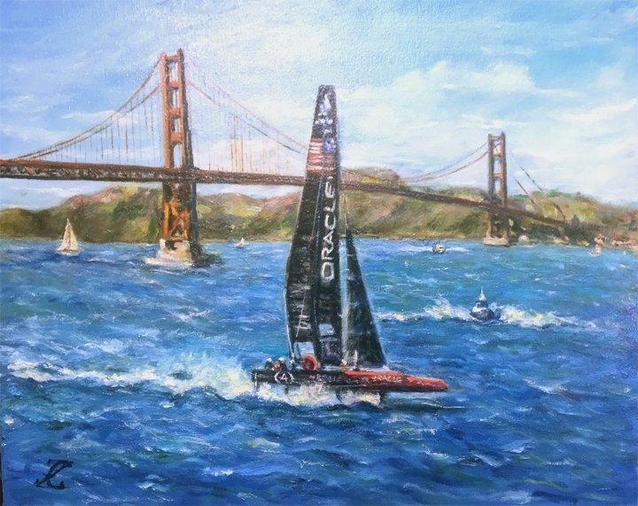 """Oracle at Golden Gate Bridge"" by Galina"