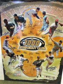 Sport Memorabilia: 3000K Strike-Out Club Poster Signed
