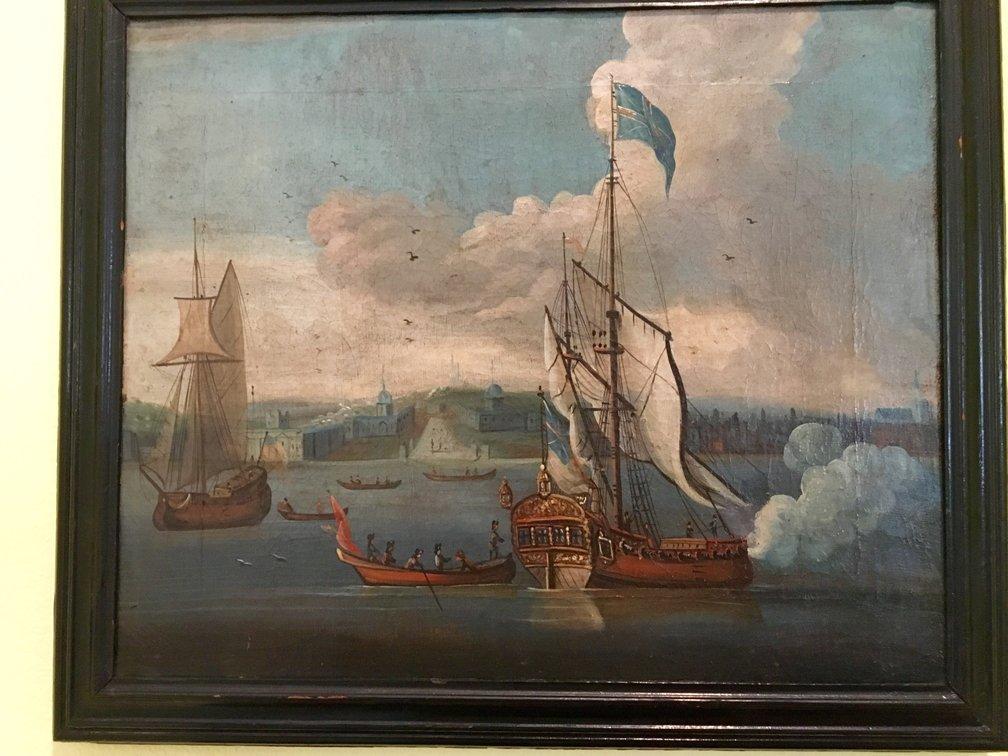 Antonio Lombardo - Frigates in Harbour original