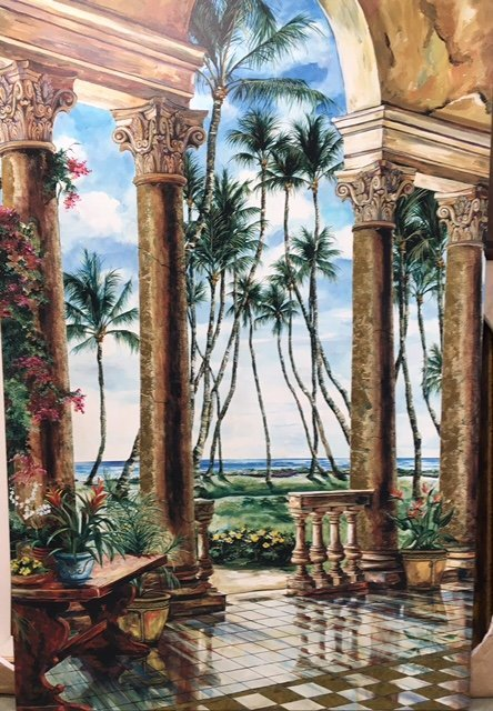 Karen Stene - Paradise Palms - Embellished Giclee