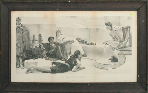"1009: C 1900 print ""A. Alma Tadema, A Reading from Home"