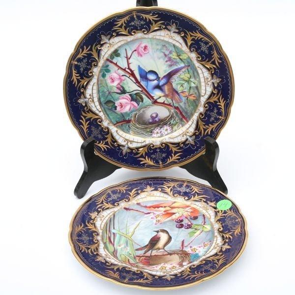 14: Pair of beautiful Victorian porcelain plates, impre