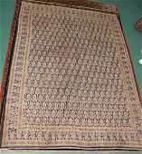 156 Old Persian Seneh wool rug 911 x 131 blue fi