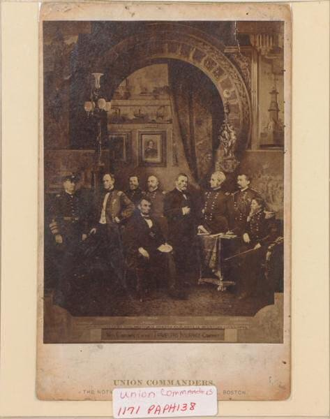 1: Photograph of Union Commanders with Abraham Lincoln.