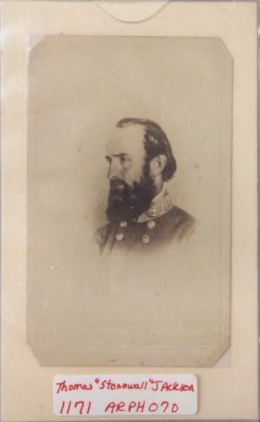 "3: Photograph purportedly of Thomas ""Stonewall"" Jackson"