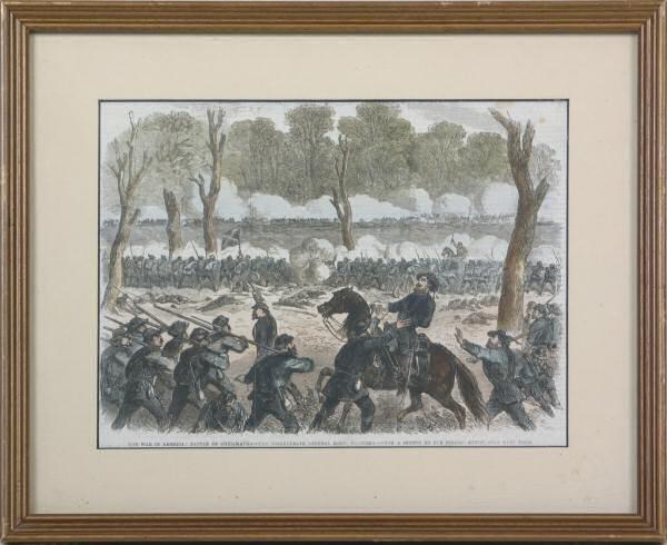 "13: Civil war publishers print. ""The war in America, ba"
