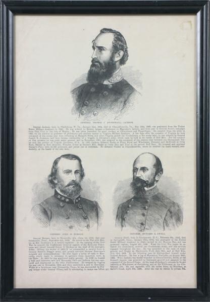 14: Publishers print of Civil war confederate generals.