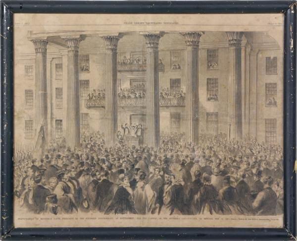 "14A: 1861 Publishers print. ""Inauguration of Jefferson"