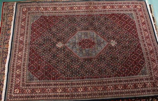 "24: 12'4"" x 9'4"" Handmade Persian Bidjar rug. Multiple"
