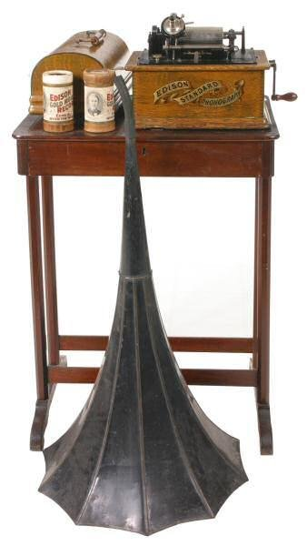 36: c. Early 1900's Edison Standard phonograph cylinder
