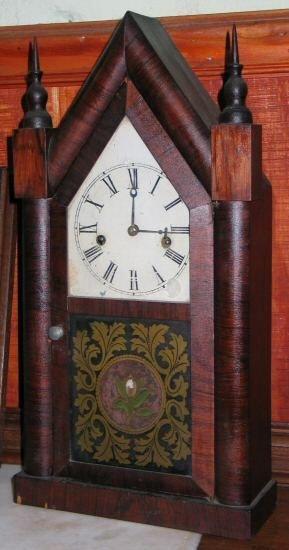 401: Mid 1900's steeple clock. Waterbury, CN, rosewood,